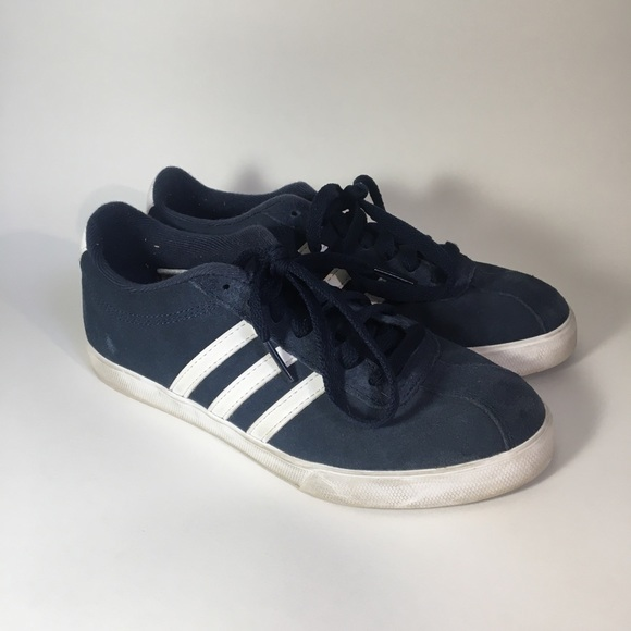 adidas neo comfort footbed blue suede shoes size 6